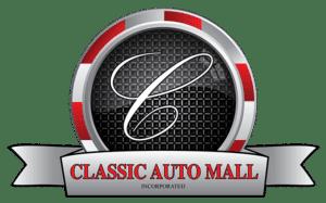 classic car dealership: classic auto mall logo