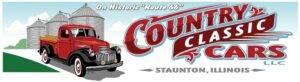 classic car dealership: country classic cars logo