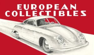 classic car dealership: European Collectibles logo
