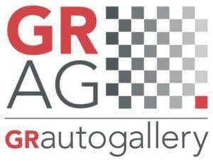 classic car dealership: GR Auto Gallery logo