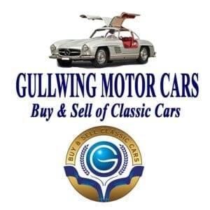 classic car dealership: Gullwing Motor Cars logo